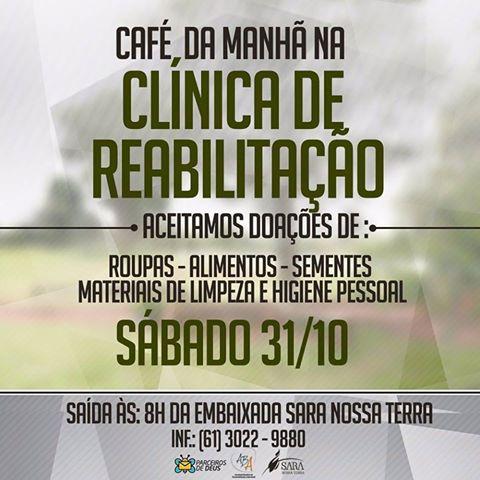 Parceiros realiza em Planaltina (DF) café da manhã em comunidade terapêutica