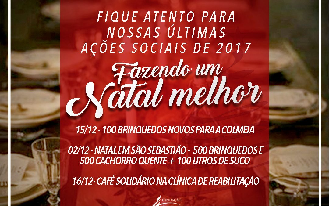 Parceiros de Deus realizam ações sociais em Brasília para um natal mais feliz