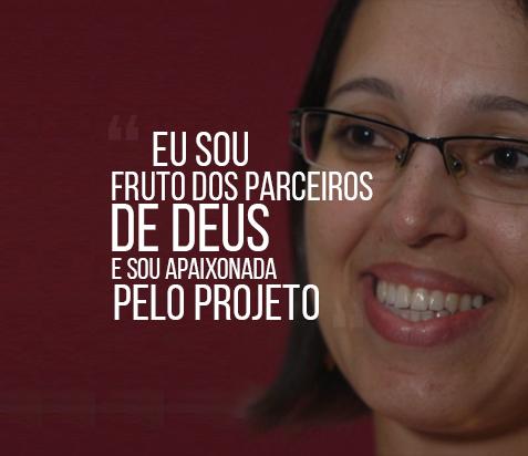 Elizabeth Pontes destaca os milagres alcançados após conhecer os Parceiros de Deus